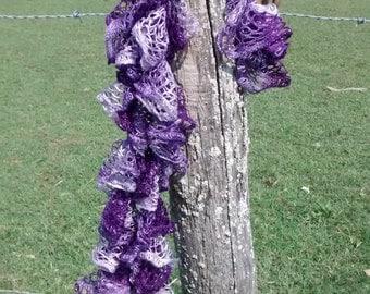 Purple Frill Scarf
