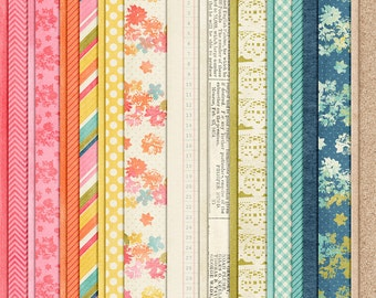 Breath of Fresh Air - Spring Digital Papers - 12 x 12 - Scrapbooking Pack - Perfect for Easter Crafts!