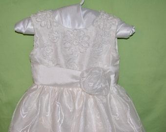 Girl wedding dress, Handmade dress, white girl dress, white silk dress, flower girl, special occasion dress, long dress, baby girl dress