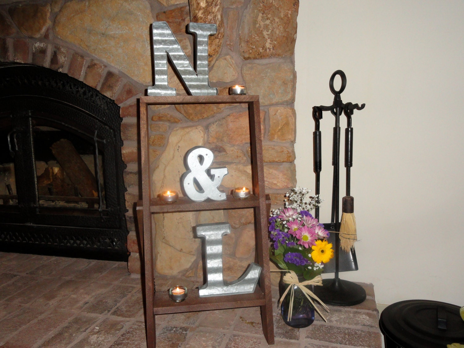 Rustic Ladder Shelf/Home Decor And By BACUSTOMPRODUCTS On Etsy