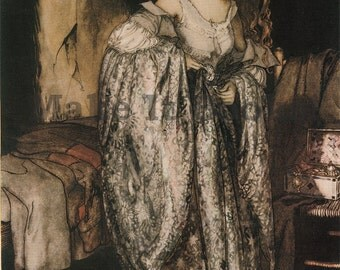 Arthur Rackham - The Woman in the Star Dress - The True Bride - Brothers Grimm Fairy Tales