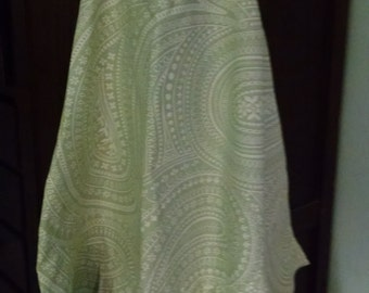 Fabric apron, Green print apron, Kitchen apron, Baker's apron