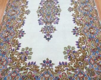 4' x 7' New Persian Kerman Oriental Rug - Hand Made - 100% Wool