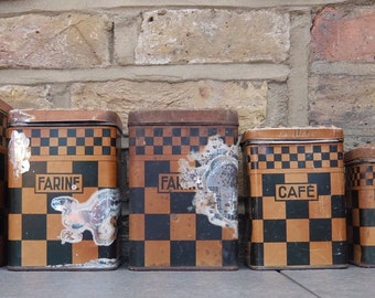 LUSTUCRU Chequered Kitchen Canister Set