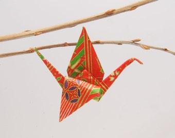 "Origami ""Crane of Eve""-brooch"