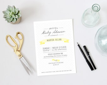 Customizable Baby Shower Invitation (Digital File)