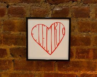 "BØRNS ""Electric Love"" Letterpress Print"