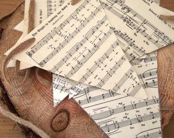 Vintage Sheet music Bunting