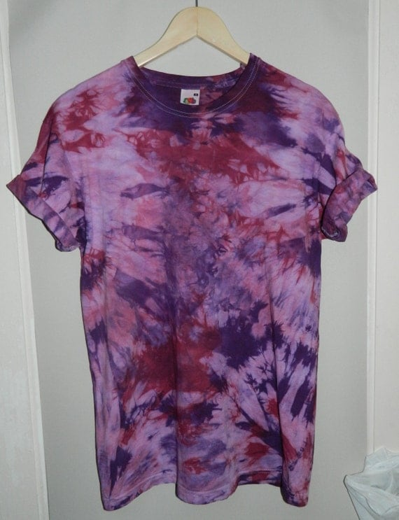 Tie dye t shirt acid wash t shirt hipster retro 90s dip dye for How to wash tie dye shirt after dying
