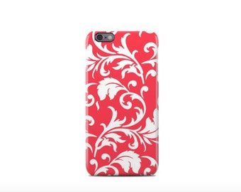 Red Floral Pattern iPhone 6 Case - iPhone 6 Plus Case - iPhone 5 Case - iPhone 5S Case - iPhone 5C Case