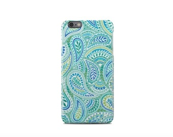 Green Paisley Pattern iPhone 6 Case - iPhone 6 Plus Case - iPhone 5 Case - iPhone 5S Case - iPhone 5C Case