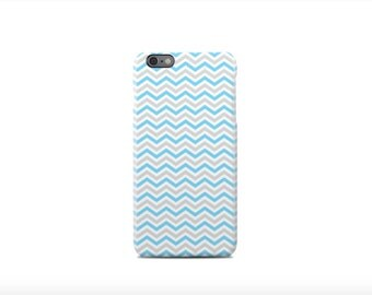 Grey & Blue Chevron iPhone 6 Case - iPhone 6 Plus Case - iPhone 5 Case - iPhone 5S Case - iPhone 5C Case