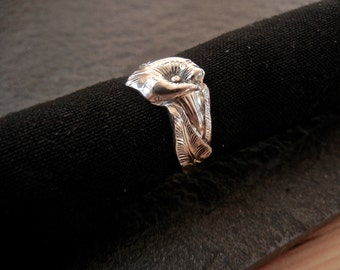 Calla Lilly Sterling Silver Spoon Ring