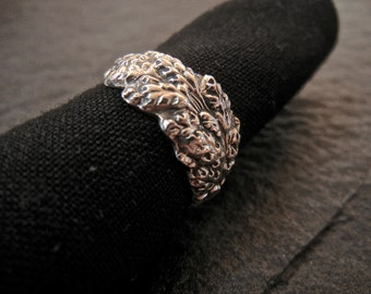 Goldenrod Sterling Silver Spoon Ring