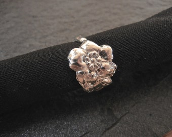 Wild Rose Sterling Silver Spoon Ring