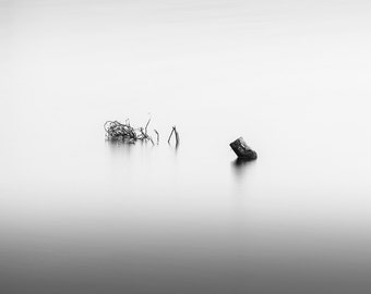 Fine Art Photograph, Black and White Waterscape - Landscape, Long Exposure - Title: A Sense of?