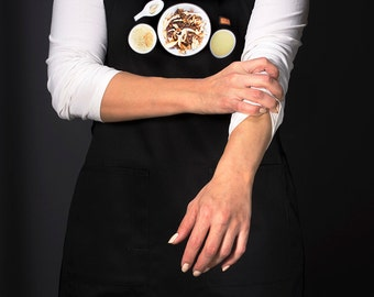 Kitchen aprons for the modern home chef. For men and women (Risotto ai Funghi, Italy) FREE SHIPPING
