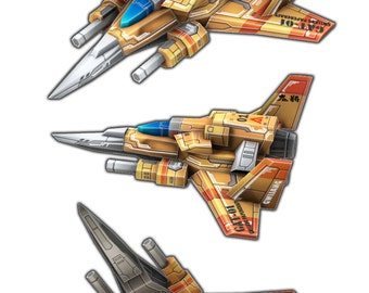 Gwi-Jang Papercraft custom series : GAT (Goldlocks Air Troop) No.01