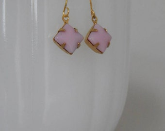 Pretty delicate pink dangle earrings