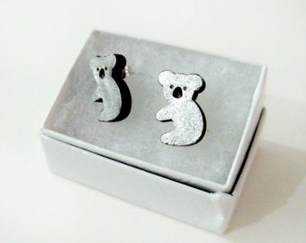 super cute koalas for your ears // cute stud earrings