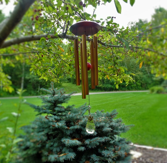 Christian wind chime memorial gift after loss memoral garden for Garden memorials for loved ones