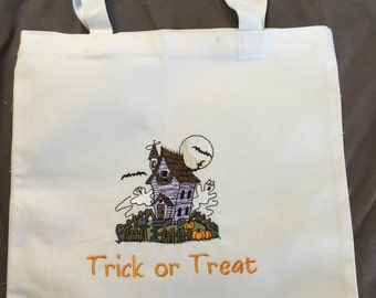 Halloween Candy Bag - Haunted House Trick or Treat