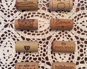 Set of 8 wine cork magnets