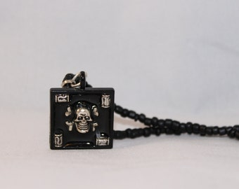 Skull Jewelry for Men - Black - Skull Jewelry - Halloween Necklace