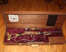 Steampunk Cosplay Gun with case
