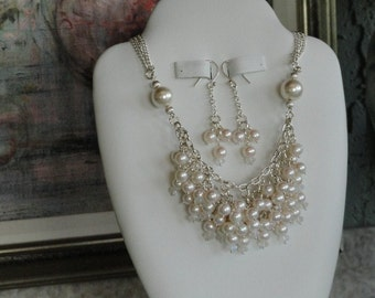 Multi-strand Pearl beaded necklace  -  36