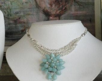 Amazonite beaded necklace  -  44