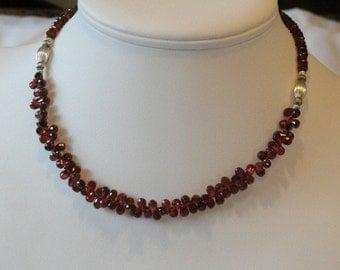 Garnet beaded necklace  -  58