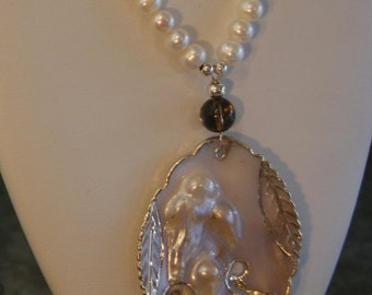 Pearl beaded necklace  -  111
