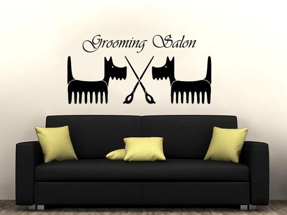 Grooming Salon Wall Decal Vinyl Sticker Decals Pet Shop Decor