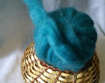 Roving: Mohair + Wool (75/25) / Teal