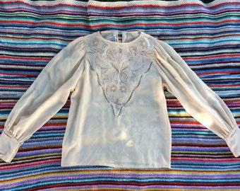 Vintage Silk Blouse Size 4