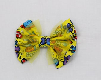 Yellow Playful Bug Hair Bow