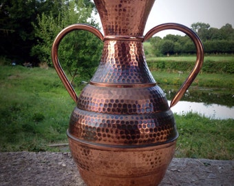 Copper vase-rosé gold, flower vase