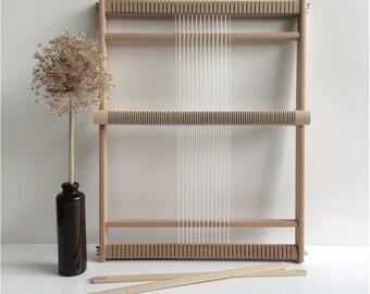 Weaving Loom XL with heddle bar, stand (optional) and rotating warp bars / Frame Loom / Weefraam