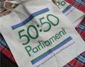 50:50 Parliament Tote Bag