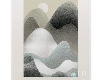 Printable Artwork, Digital Print, Download illustration, mountain, mountain, illustration to download,
