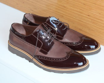 Handmade Leather  Special Design Luxury Brown Costume Mens Shoes