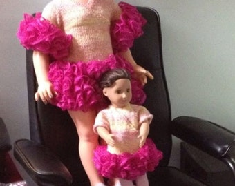 Party Dresses  for girl and doll