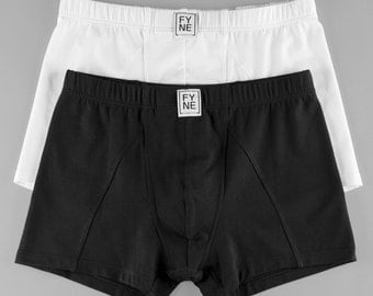 Boxer Brief TIGHT, underwear, menswear, 2Pack, black jersey, made in Germany, gift idea
