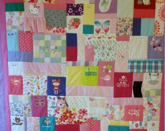 Baby Clothes Quilt - Twin Size