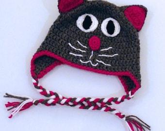 Crochet Kitty Cat Hat