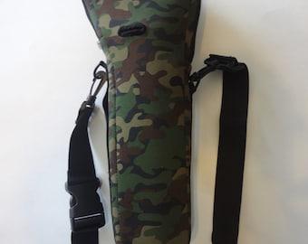 Camo oxygen cylinder carrier bag.