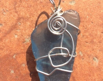 Light Blue Sea Glass Pendant