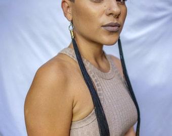 Black Licorice Earrings