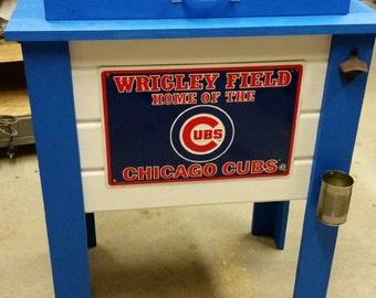 Custom Rustic Wooden Cooler Stand  / Rustic Cooler Table / Football - Baseball - Man Cave / Beer Cooler / Party / Harley / Wood Cooler Stand